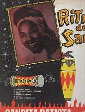 CANDITA BATISTA disco LP RITMO DE SANTO Orchestra y TAMBORES BATA Afro Latin USA