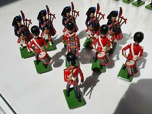 Britains Scottish Highlanders Marching Band 1990 10 Figures