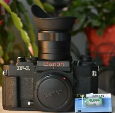 MINT Canon New F-1 film camera with FN-6X waist level finder