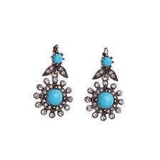 NEW * Urban Anthropologie Isodora Baby Blue Gem Rhinestone Earrings