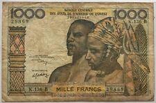 AFRIQUE DE L'OUEST - 1 000 FRANCS - Billet de banque // Qualité : TB