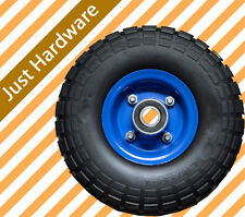 "2 x 10"" Hand Trolley Wheel Pneumatic air 3.50-4 Heavy Duty double hub 20mm"