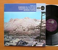ECS 603 Sibelius Symphony no. 6 & 7 Anthony Collins London Symphony EX/EX Decca
