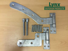 "Curved Rail Hinge 300mm (12"") Right Hand GALVANISED"