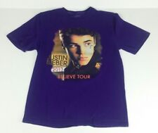 Justin Bieber Concert Small Shirt Purple 2013 Believe Tour Cities Damage Repair