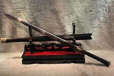 "HANDMADE HIGH QUALITY CHINESE SWORD ""HAN JIAN ""RED PATTERN STEEL BLADE#3009"