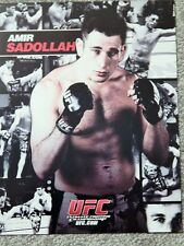 UFC AMIR SADOLLAH  DELUXE 8 1/2 X11 OFFICIAL PHOTO COLLECTIBLE