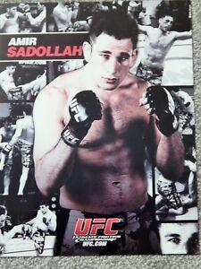 UFC AMIR SADOLLAH  DELUXE 8 1/2 X11 OFFICIAL PHOTO COLLECTIBLE