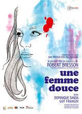 Affiche 120x160cm UNE FEMME DOUCE 1969 Robert Bresson, Dominique Sanda R2013 NEU