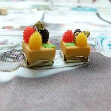 Les Nereides N2 Fantasy tarte aux fruits plaqué or Boucles d'oreilles avec Cristal Clous