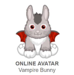 Webkinz Classic Vampire Bunny *Code Only*