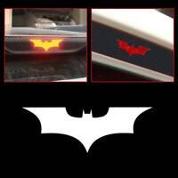 3D Black Carbon Fiber Batman Car Brake Tail Light Sticker Decal Universal