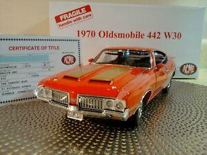 DANBURY MINT-ACME 1970 OLDSMOBILE 442..W30..1:18.RARE LE..NIB.TITLE..UNDISPLAYED