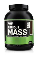 Optimum Nutrition Protein Serious Mass Gainer Chocolate Weight Whey Creatine 6lb