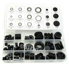125X Rubber Grommet Firewall Hole Plug Electrical Wire Gasket Assortment Kit Set
