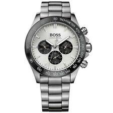 GENUINE Hugo Boss HB1512964 Quartz Ikon Men's Silver and Black Chronograph Watch