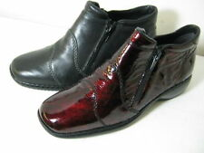 Patent Leather Casual Ankle Boots for Women