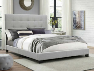 Crown Mark Florence Panel Bed - Gray, Queen Size (5270GY-Q)