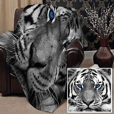 147x147cm Doux Couverture polaire Housse BEAU NEIGE Conception De Tigre Lit