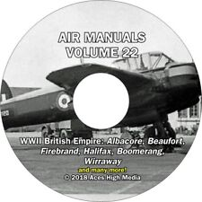 WWII British Empire Flight Manuals on CD Beaufort Spitfire Hurricane and more!