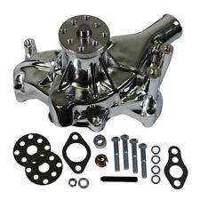 For Small Block Chevy SBC 350 383 High Volume Long Water Pump Chromed