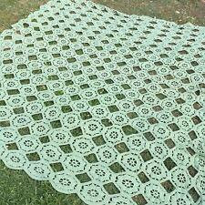 Coperta fatta a mano della nonna plaid, letto, crochet ,uncinetto, lana vintage