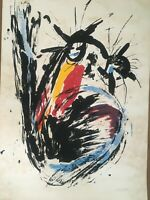 Serigraph by Camacho, circa 1990, original serigraph, signed by the artist. Cuba