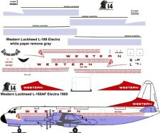 Western freighter Lockheed Electra airliner decals for Minicraft 1/144 kit