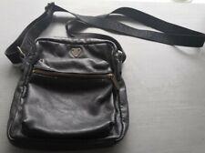 Mens Armani Jeans black leather bag