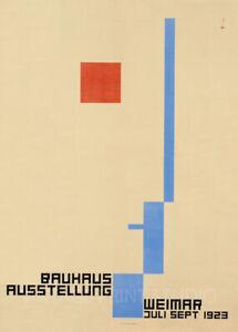 Bauhaus Ausstellung 1923 Weimer Art Exhibition Design Giclee Canvas Print 20x28