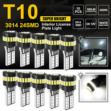 10PCS 24SMD T10 194 168 LED interior light Bulb Super Bright Canbus Xenon White