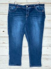 "Royalty For Me 24W Skinny Jeans Dark Wash Stretch 27.5"" Inseam Womens"