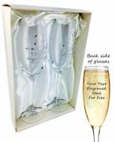 Personalised Engraved 25th Silver Anniversary Pair Of Champagne Flutes WG66525P