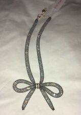 """Betsey Johnson """"Memoirs of Betsey"""" Black Mesh Bow Necklace NWT"""