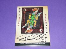 2015 Goodwin Champions GAME of CHANCE Jack of Clubs Bernard Oliver Auto/25 Goth