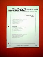 LAWN BOY COMMERCIAL MOWERS MODELS 6259 6300 8400 - 8401 PARTS MANUAL 1980