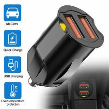 2.1A Mini Dual USB Car Charger 2 Port Cigarette Socket Lighter Phone Charge USA