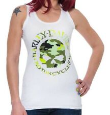 Harley-Davidson® Women's Concealed Camo Skull Tank Top White Size S