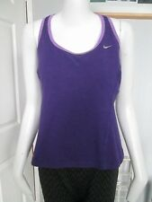 NIKE - PURPLE, WORKOUT/GYM/YOGA/RUNNING  SIZE  14 - 100% POLYESTER - PRE OWNED