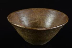 #9661: Japan Old Seto-ware Youhen pattern TEA BOWL Green tea tool Tea Ceremony