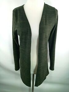 Charlotte Russe S Small Womens Sweater Solid Cardigan Green LS Lightweight