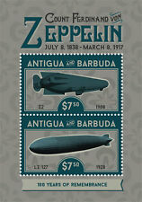 Antigua and Barbuda-2017 ZEPPELIN, 100 YEARS OF REMEMBRANCE,world war I-I70002