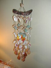 SOFT ISLAND SOUND!! COLORFUL 18 STRAND !! 24 INCH FLORIDA SHELL WIND CHIME