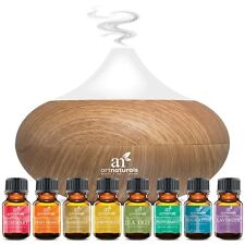 Oil Diffuser Air Humdifier Aroma Mist Theapy Ultrasonic Purifier w/ Oils Set