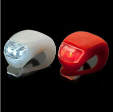RedLight Color   2 LED SILICONE MOUNTAIN BIKE FRONT REAR LIGHTS SET