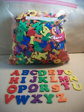 Lot of 1� Foam Shapes Alphabet Letters Crafts Scrapbooking Homeschool 7 Colors