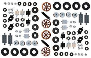 LEGO Wheels Tyre Axle 100 pieces set city BRAND NEW small medium large 6118 2xXL