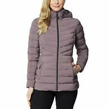 32 Degrees Heat Womens Hooded 4-Way Stretch Jacket (Sparrow, Small). W/Detail