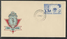 AUSTRALIAN ANTARCTIC 1957 2/- MAP OFFICIAL HERMES Unaddressed FDC