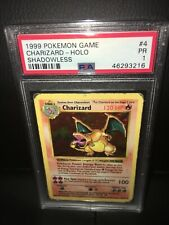 Pokemon Shadowless Charizard PSA 1! Base Set 4/102